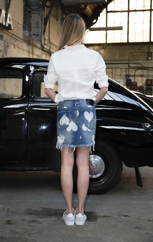 Cupid Junkyard denim skirt by One Teaspoon