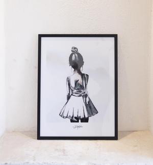 Ballerina Print av Lisa Rendahl