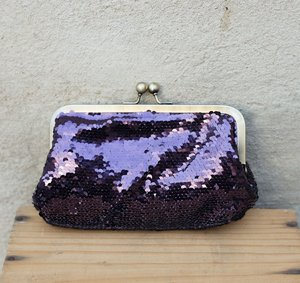 Fiesta Glimmer Purse Purple by Pipol's Bazaar