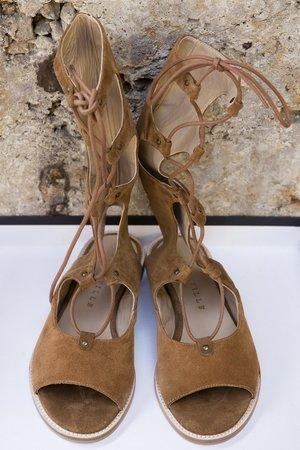 Cruella-Cuoio suede sandals by Alberville